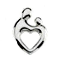 Silver Mother & Child Charm