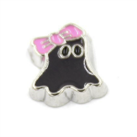 Ghost with Pink Bow Charm