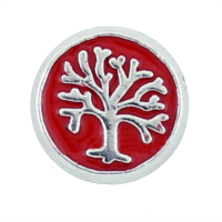 Family Tree Disc Charm - Red