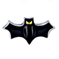 Black Bat with Yellow Eyes Charm