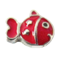 Cute fish - Silver & Red