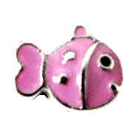 Cute fish - Silver & Pink