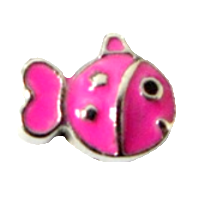 Cute fish - Silver & Fuchsia