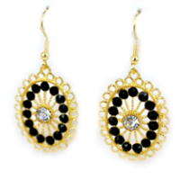 Glam old Hollywood Style Vintage Earrings