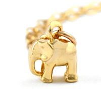 Gold Elephant Dangle Charm