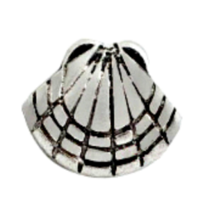 Silver Clam Shell Charm