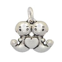 Silver Baby Love Charm