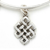 Silver Russian Endless Knot Charm